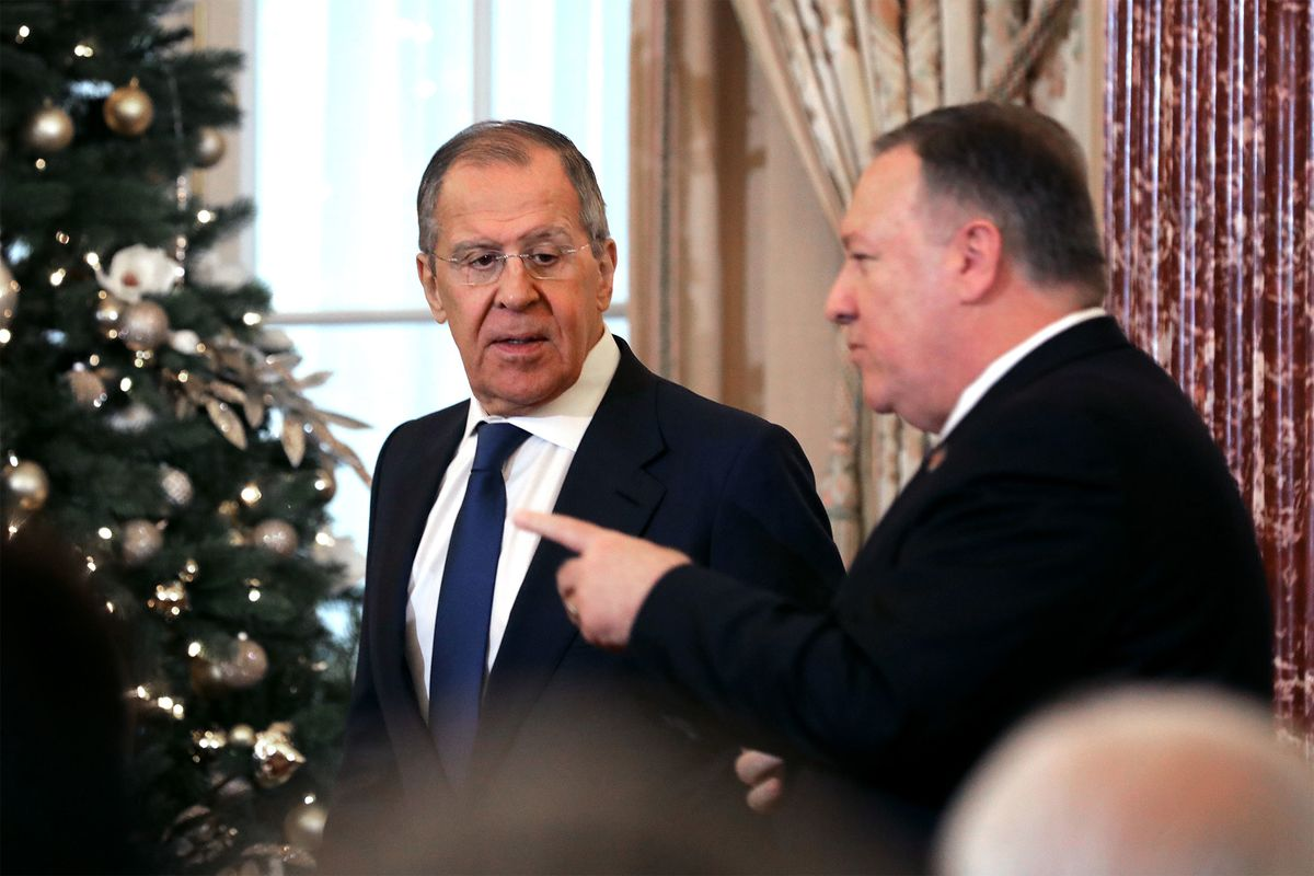 Pompeo and Lavrov Joust Over Meddling in U.S. Elections