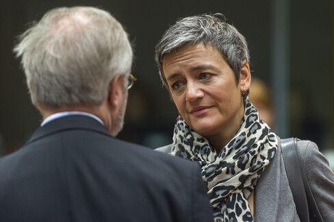 Denmark's Economy Minister Margrethe Vestager