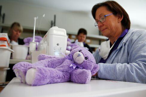 Bobbie the teddy bear.