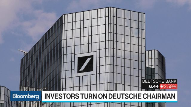 Deutsche Bank CEO's Support Erodes at Shareholder Meeting