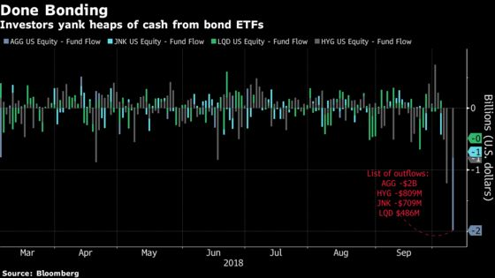 Bond ETF Outflows Suggest No More 'Crying Wolf'on U.S. Rates