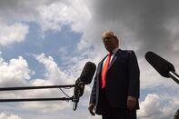President Trump Departs White House For Ohio