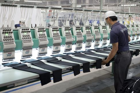 The Esquel Group garment factory at the Vietnam-Singapore Industrial Park in Thuan An, Binh Duong province, Vietnam