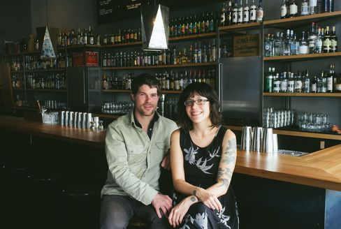 Tin Roof Drink Company's Arnholt (left) and Claire Sprouse, consultants with a cause.