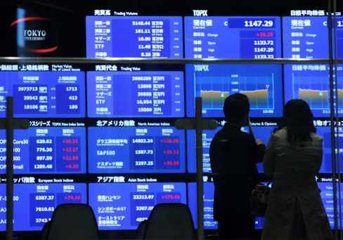 Asia Stocks Gain 2nd Day on Stimulus Outlook as Oil, Copper Fall