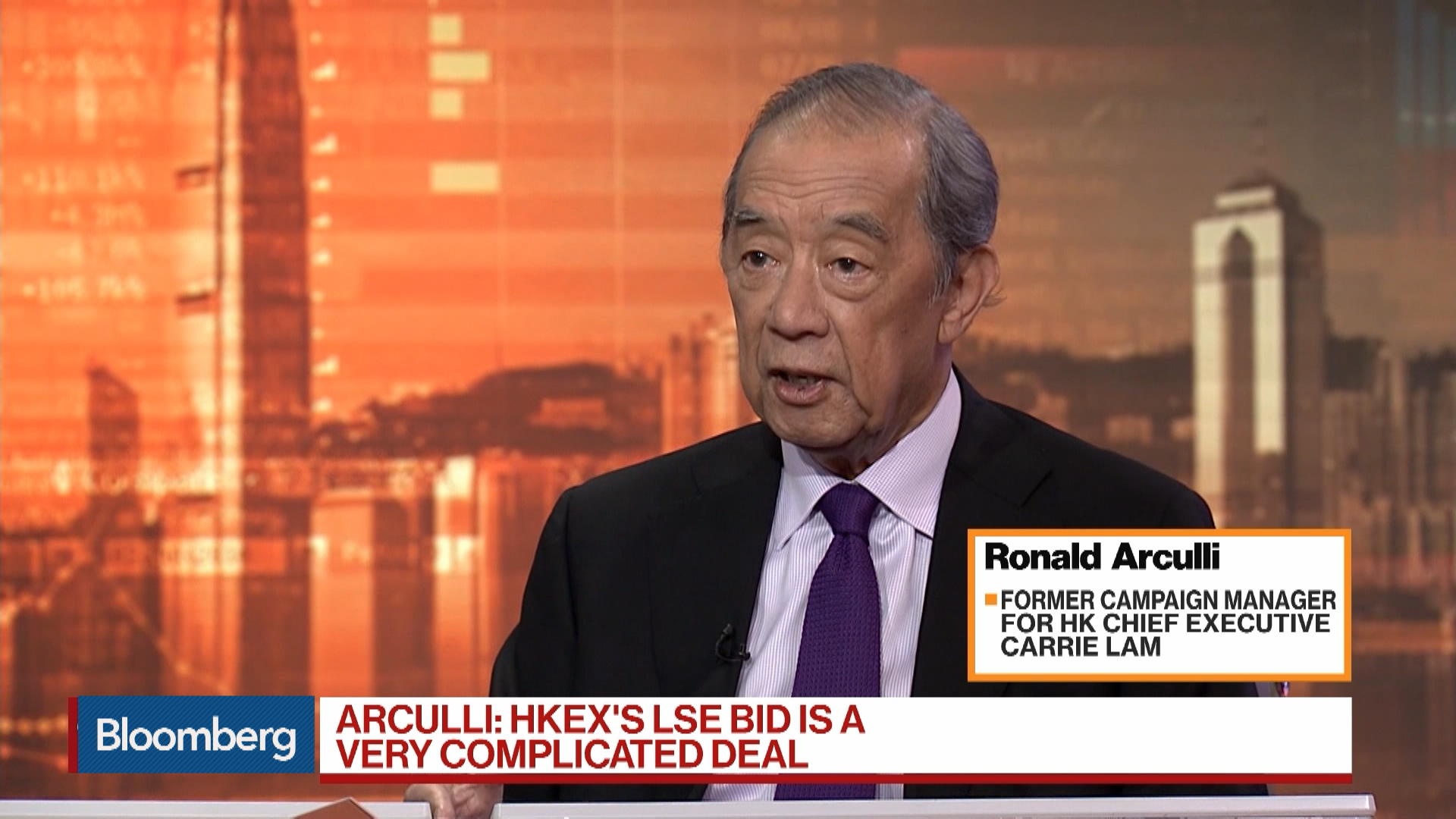 HKEX's LSE Bid Is a Very Complicated Deal, Says King & Wood Mallesons's Arculli