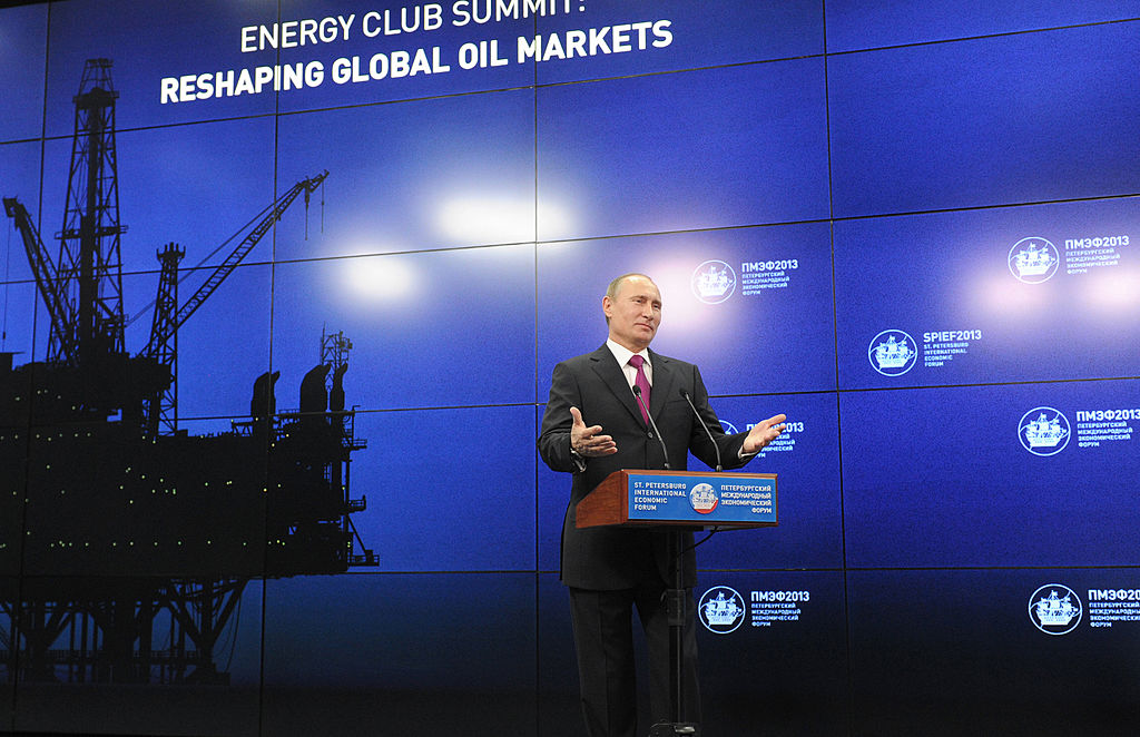 Russian President Vladimir Putin at an energy conference in St. Petersburg in 2013.