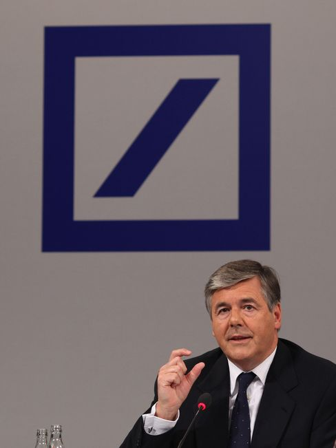 Deutsche Bank's chief executive officer Josef Ackermann