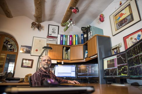 Roger Hunter in his home office.