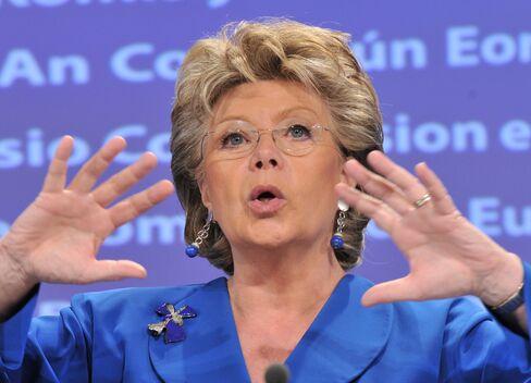 European Union's Justice Chief Viviane Reding