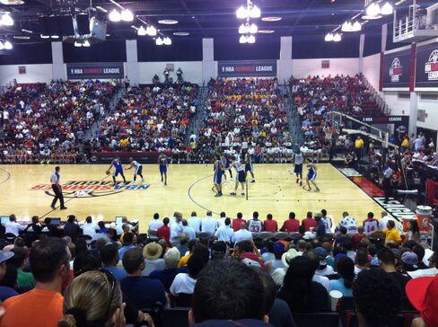 A 2013 NBA Summer League game in Las Vegas.