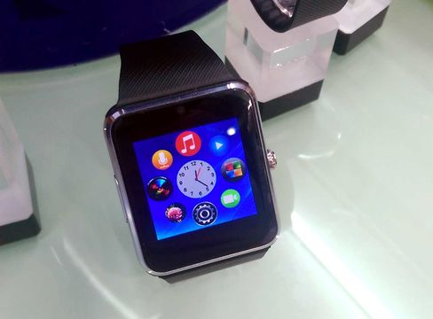 A replica Apple Watch on sale in China's Shenzhen City. For as low as $50, the smartwatch features a camera and allows phone calls without the need for a smartphone connection.