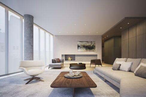 A living room at 152 Elizabeth Street.
