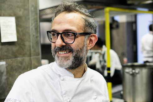 Chef Massimo Bottura, chef and owner of the World's Best Restaurant 2016, Osteria Francescana in Modena, Italy.