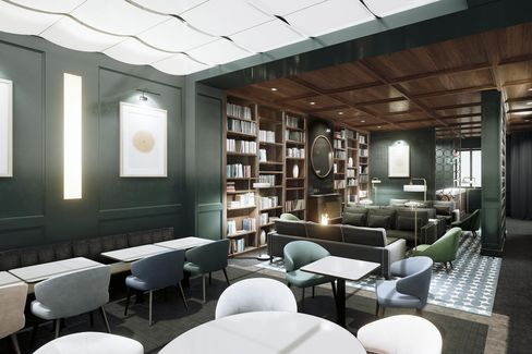 Residential-inspired interiors at Le Roch.