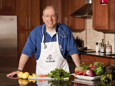 Dr. John Principe in his medical practice's teaching kitchen in Palos Heights, Illinois.