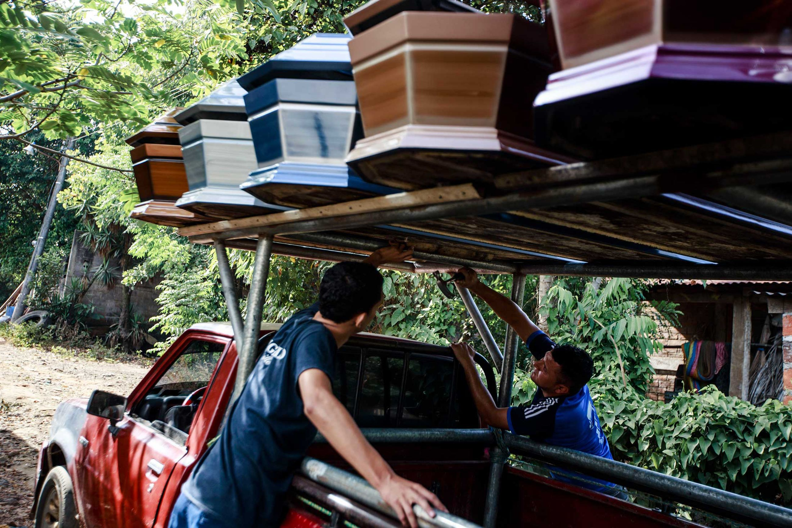 relates to The Coffin Business Is Booming in Central America Due to Gang Violence