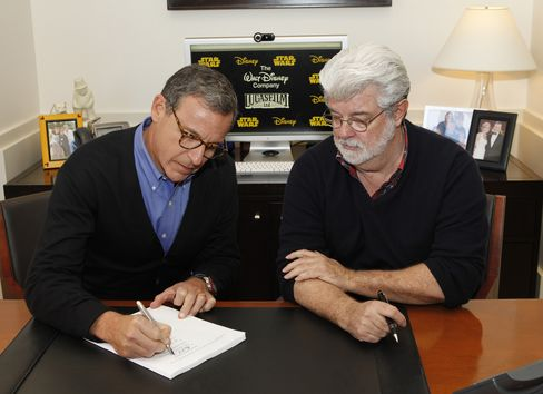 Disney CEO Robert Iger and Lucasfilm Owner George Lucas