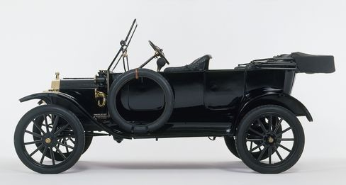 The 1914 Model T Ford has a push-button start.