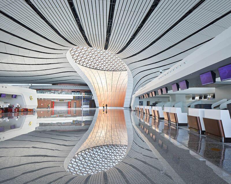 Inside the newBeijing Daxing International Airport.