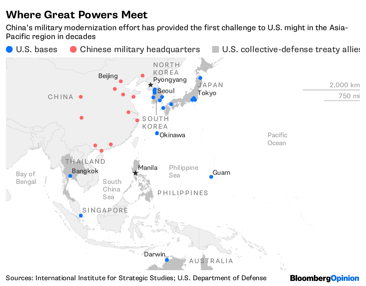 Chinas Master Plan A Global Military Threat Bloomberg Beijing Special Deal 4 Days Dept 11 Aug 18 Sources International Institute For Strategic Studies Us Department Of Defense