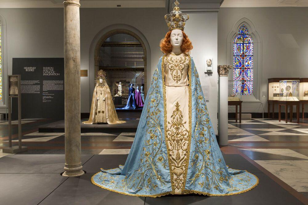 c910f8f74f9 Views of the exhibit in the Metropolitan Museum of Art's medieval Europe  gallery.