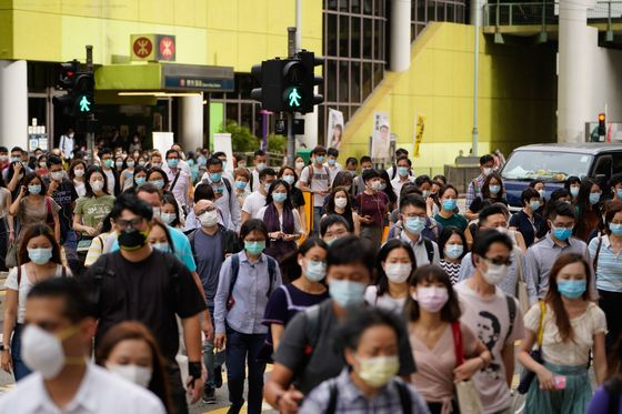 Hong Kong's New Virus Rules Impose $645 Fine for No Mask