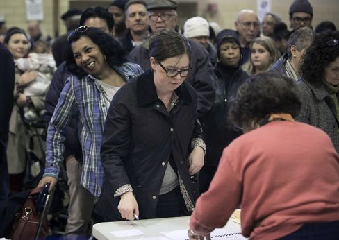 Democrats Cite Long Lines in Bid to Shift Voting Rights Debate