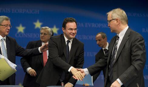 George Papaconstantinou and members of the EU
