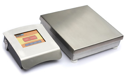 LeanPath's scale and touchscreen