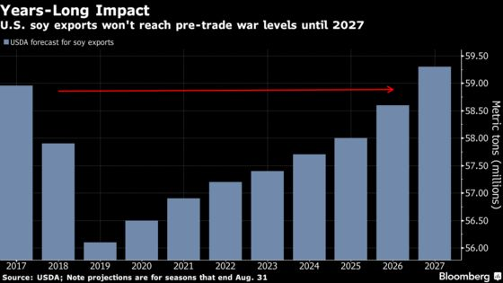 U.S. Soy Exports Won't Reach Pre-Trade War Levels for Years