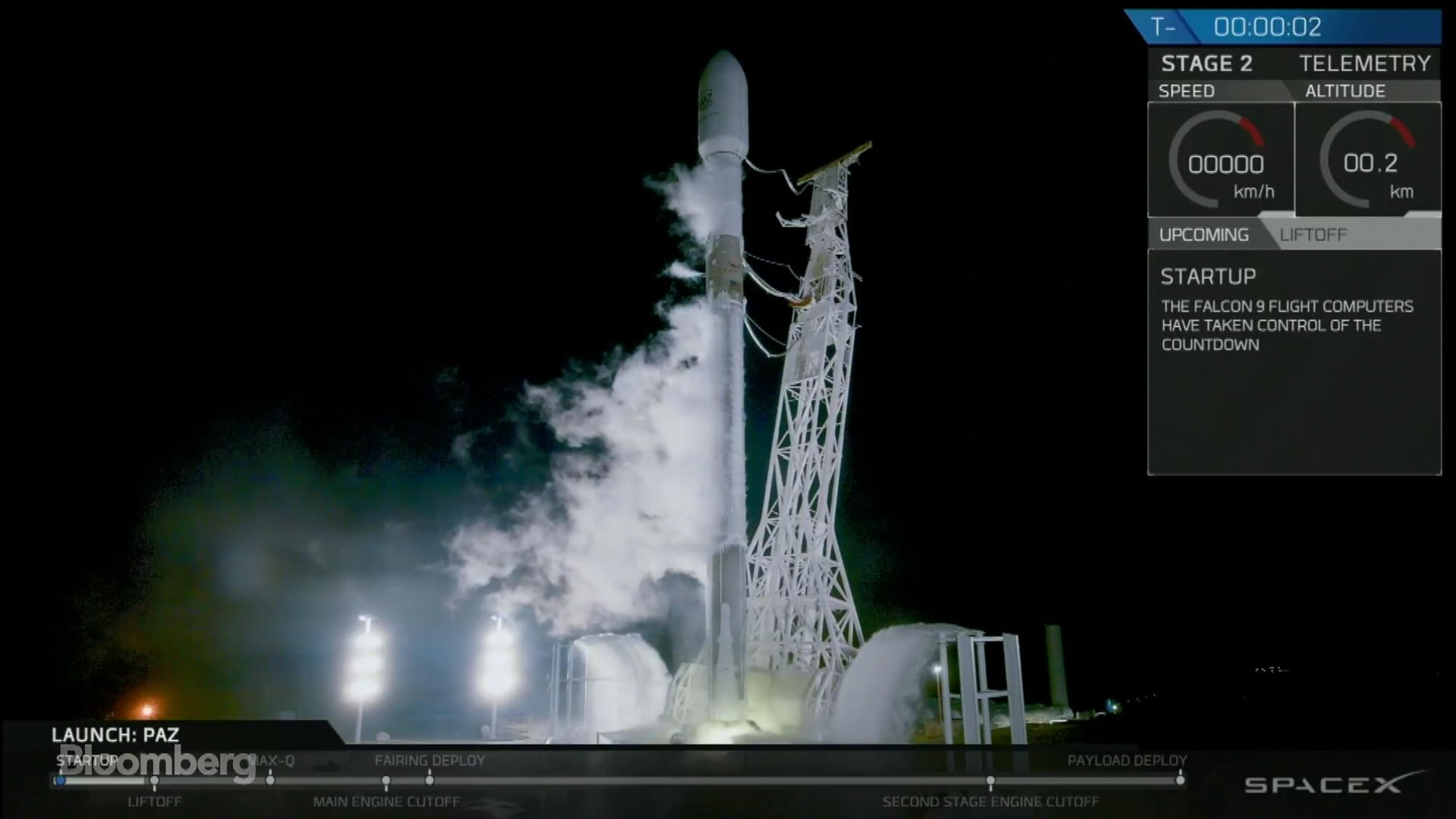 SpaceX Launches Falcon 9 Rocket Carrying Three Satellites
