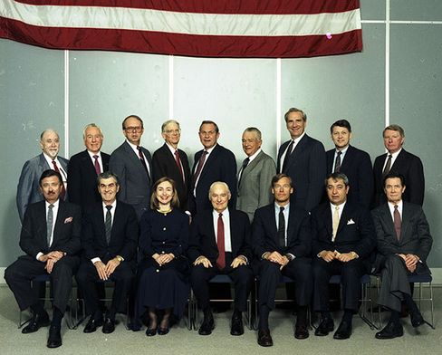 Hillary Clinton, shown in 1990, was the first woman to sit on the board of Wal-Mart.