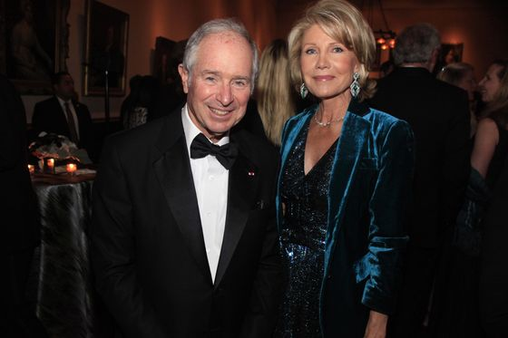 Steve Schwarzman, John Waldron Spend Night Before Midterms at the Library
