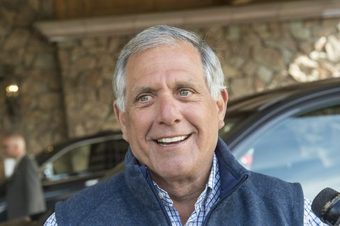 Les Moonves arrives at the Allen & Co. media conference.