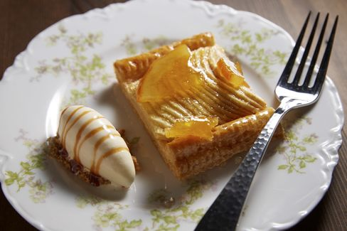 The apple tart is unlike the other, more modern desserts, but it's a crowdpleaser.
