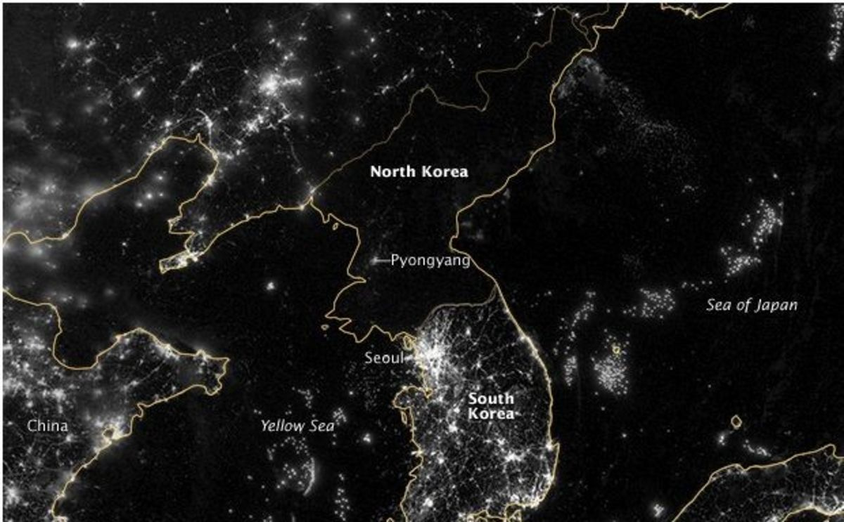 Image of: A New Highly Detailed Image Of North Korea S Lack Of Electrical Infrastructure Bloomberg