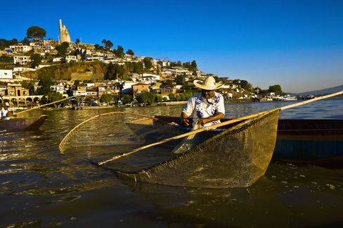 Pátzcuaro, Michoacan, where some of the largest Day of the Dead celebrations in Mexico take place.
