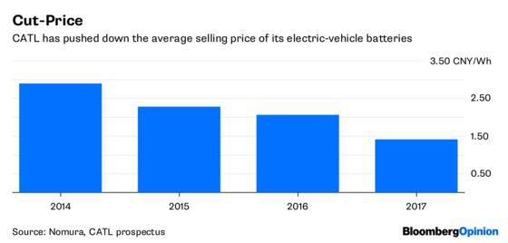 China's Battery Ace Can Run on Reduced Power
