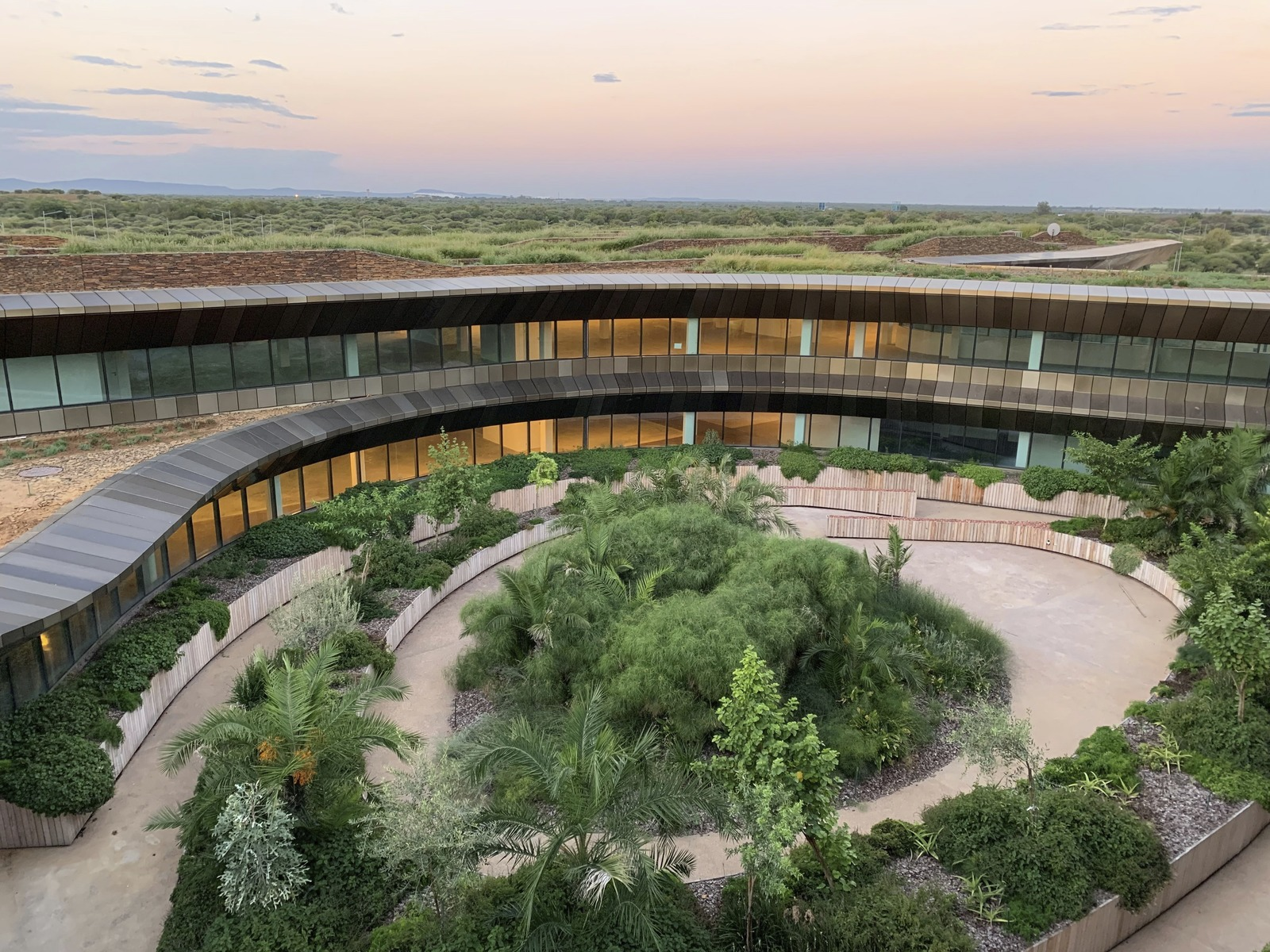 The Icon Building, located outside Botswana's capital city of Gabarone, boasts Africa's largest green roof. It's designed to be the anchor for a campus of the state-run Botswana Innovation Hub.