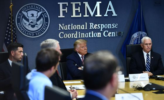 Trump Monitors Gulf Storm on FEMA Visit Ahead of GOP Speech