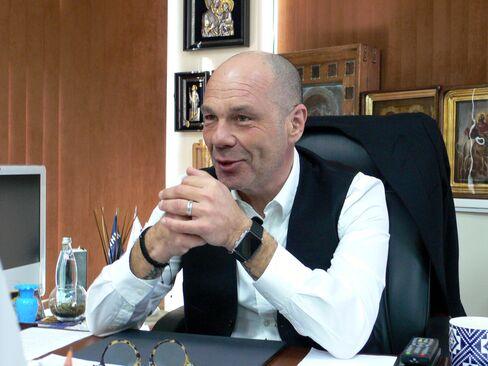 Yevgeny Dvoskin in his Simferopol office