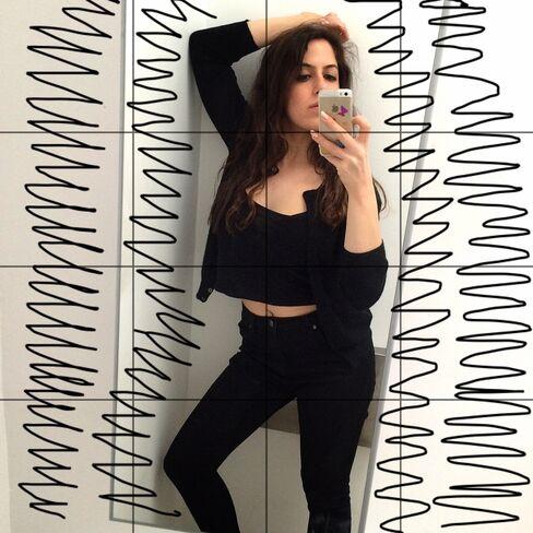 A self-portrait by Caroline Goldfarb, creator of the Instagram account @officialseanpenn.