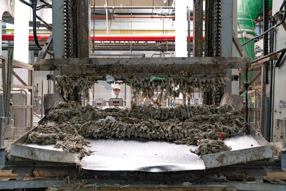 Undissolved wipes are pulled from the water at awastewater treatment facility in New York in 2019.The so-called fatberg problem has only gotten worse in recent months.