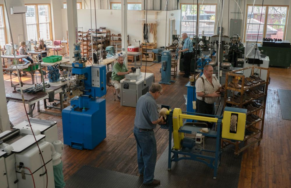 MaineSole's workshop occupies an old wool mill in Dexter, Maine