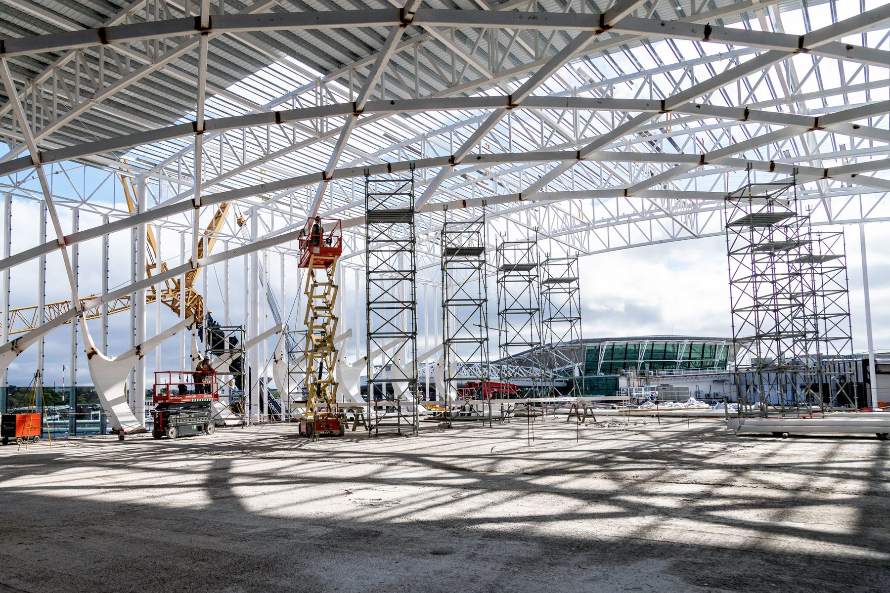 Construccin en el Aeropuerto Internacional de Ezeiza