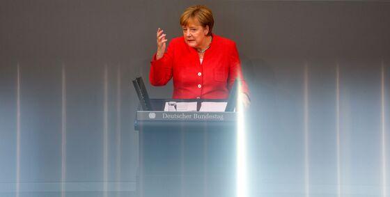 Merkel Raises Specter of Finance Crisis in Trade War Warning