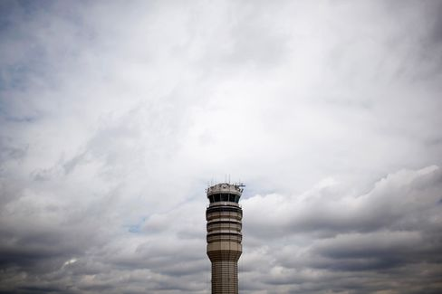 Some Air Traffic Controllers Watch Over Empty Skies