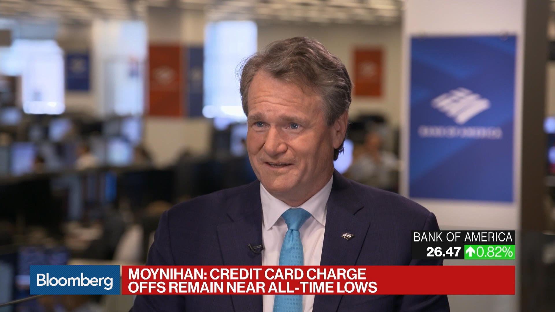 BofA's Moynihan Sees 'Fear of Recession' as Biggest Recession Risk