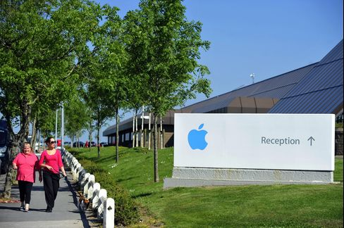 Pedestrians Walk Near Apple Inc.'s Campus in Cork